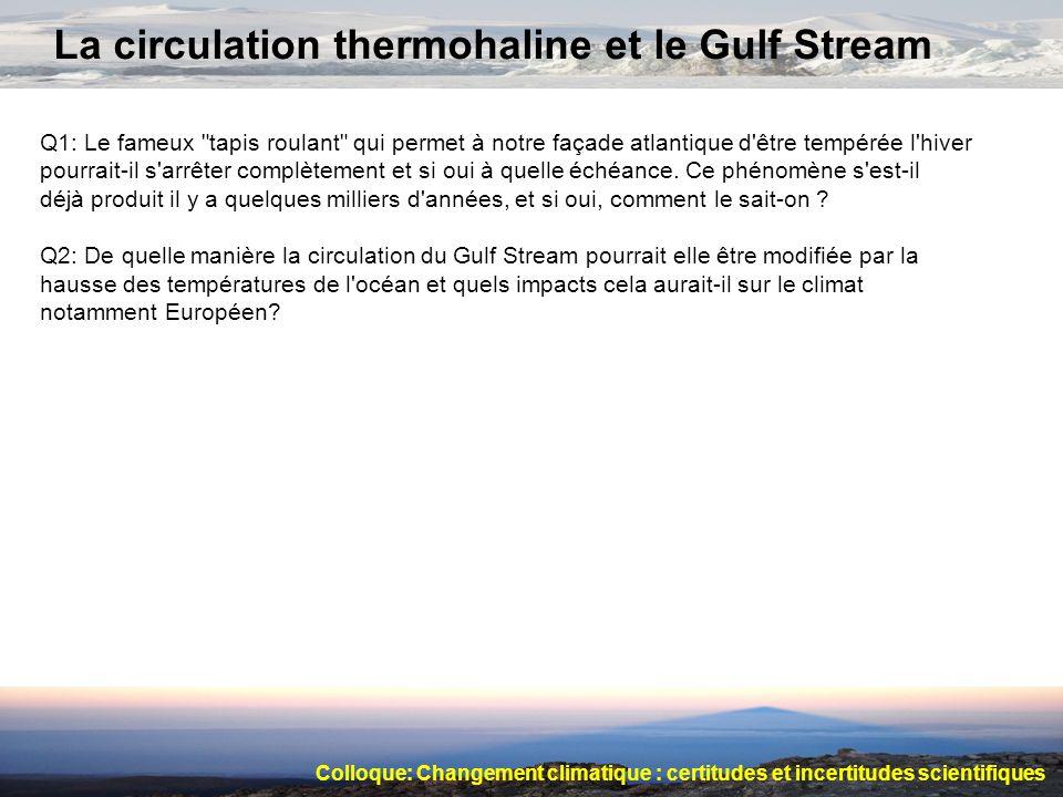 La circulation thermohaline et le Gulf Stream Q1: Le fameux