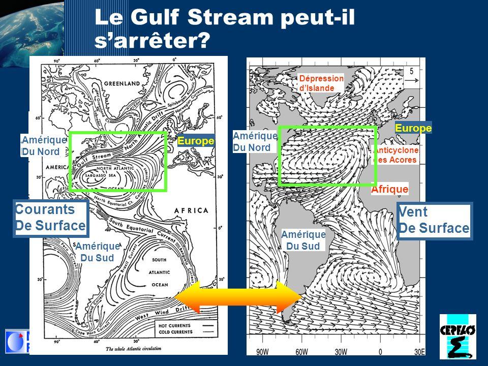 28 Le Gulf Stream peut-il sarrêter? Amérique Du Sud Amérique Du Nord Vent De Surface Europe Anticyclone des Acores Dépression dIslande Afrique Amériqu