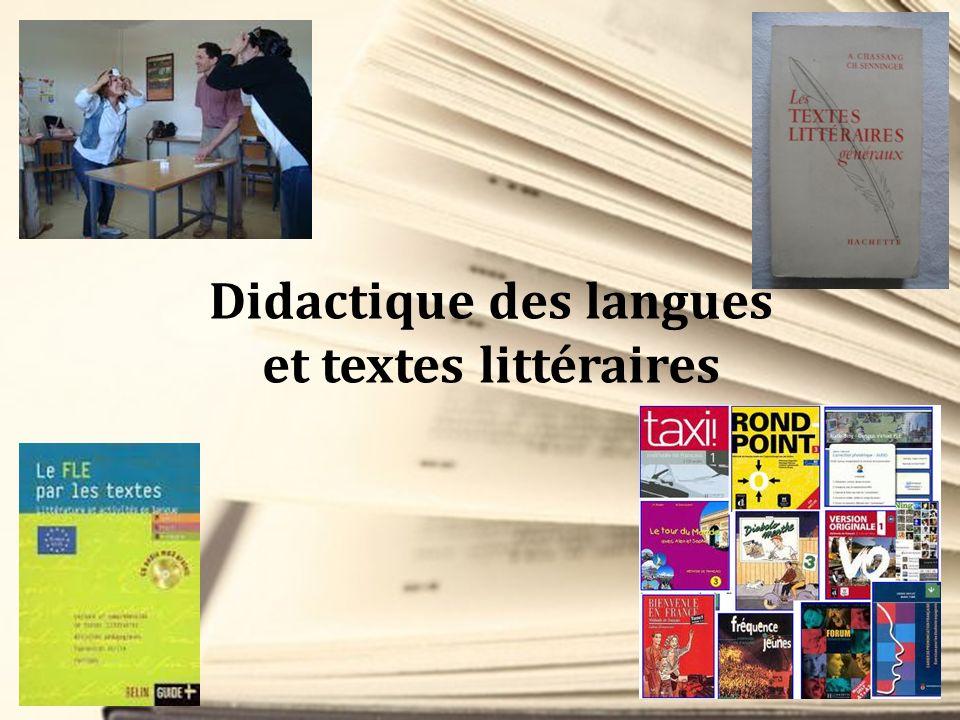 Didactique des langues et textes littéraires