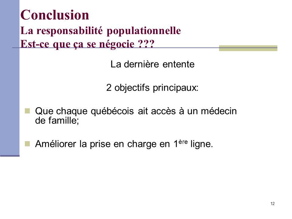 12 Conclusion La responsabilité populationnelle Est-ce que ça se négocie .