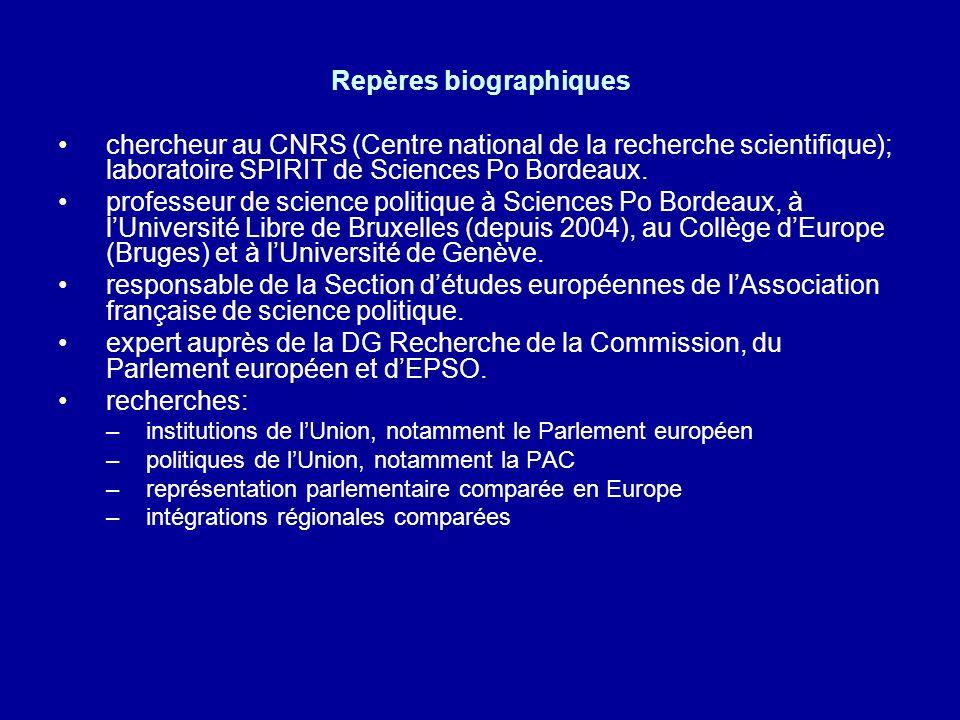 Repères biographiques chercheur au CNRS (Centre national de la recherche scientifique); laboratoire SPIRIT de Sciences Po Bordeaux. professeur de scie