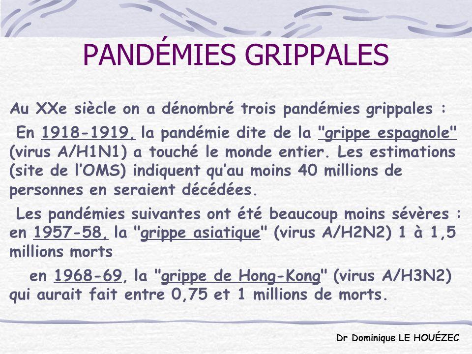 La nouvelle grippe dite « pandémique » est une infection humaine par un virus grippal qui infecte habituellement les porcs.