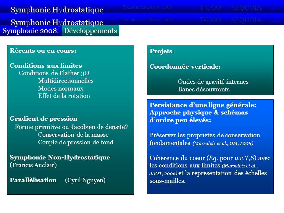 DéveloppementsSymphonie 2008: Symphonie Hydrostatique 2007 2008 POC VIFOP Sirocco Toulouse 25-26 nov. 2008 SNH T-UGOSEQUOIA Symphonie Hydrostatique 20