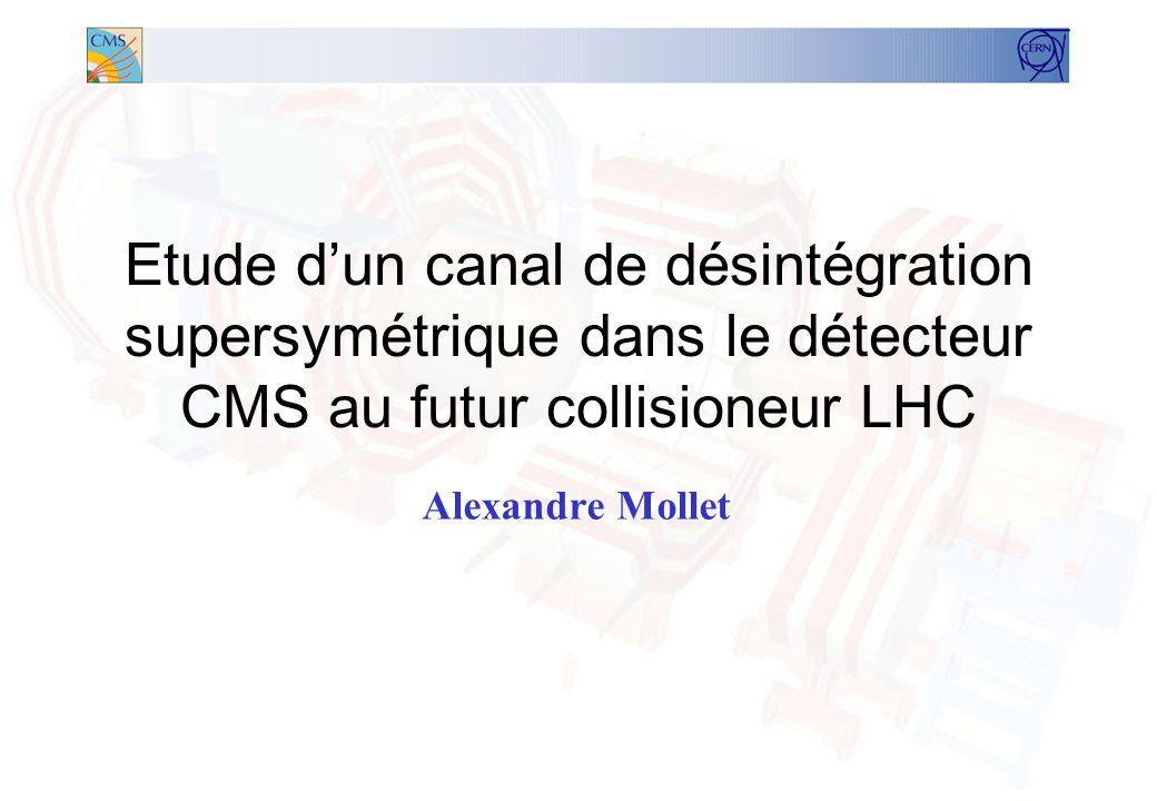 Présentation Le contexte –Le LHC –Lexpérience CMS (Compact Muon Solenoid) –Pourquoi la super-symétrie (SUSY).