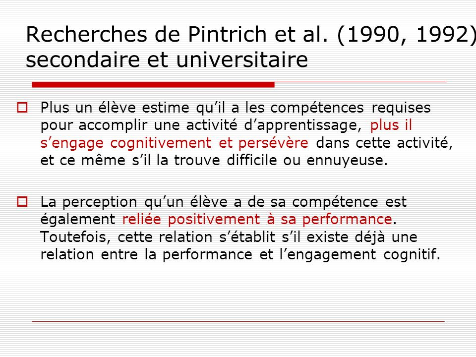 Le positionnement adéquat du niveau des attentes en 1 er BAC Student success is directly influenced not only by the clarity and consistency of expectations, but also by their level.