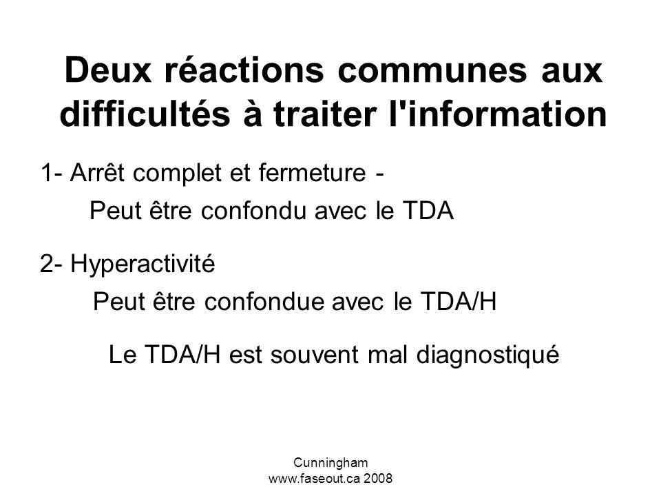 Cunningham www.faseout.ca 2008 ETCAF = Incapacité à traiter l information L ETCAF est une incapacité grave et débilitante affectant l apprentissage et le traitement de l information.