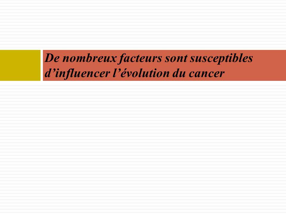 De nombreux facteurs sont susceptibles dinfluencer lévolution du cancer