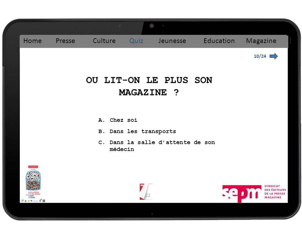 22 10/24 OU LIT-ON LE PLUS SON MAGAZINE .