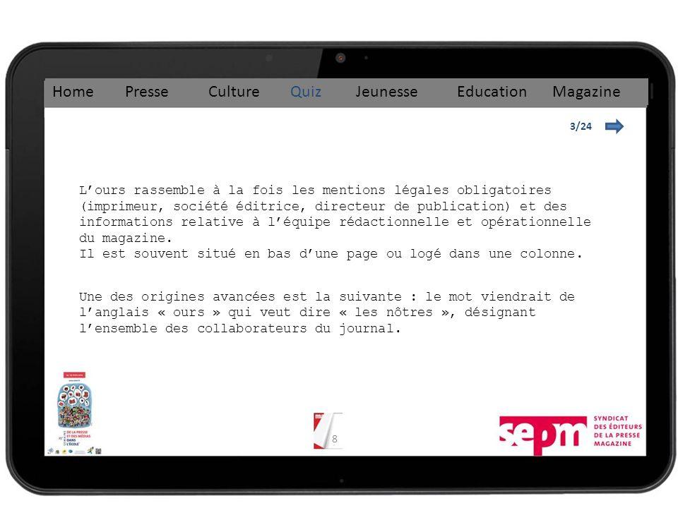 19 8/24 Home Presse Culture Quiz Jeunesse Education Magazine Le premier kiosque a ouvert en 1857 à Paris sur les Grands Boulevards, suivi de 60 autres dans les deux années qui suivent.