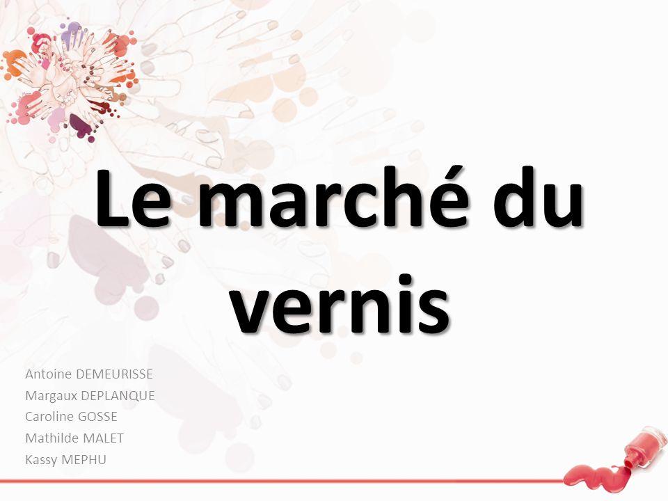 Le marché du vernis Antoine DEMEURISSE Margaux DEPLANQUE Caroline GOSSE Mathilde MALET Kassy MEPHU