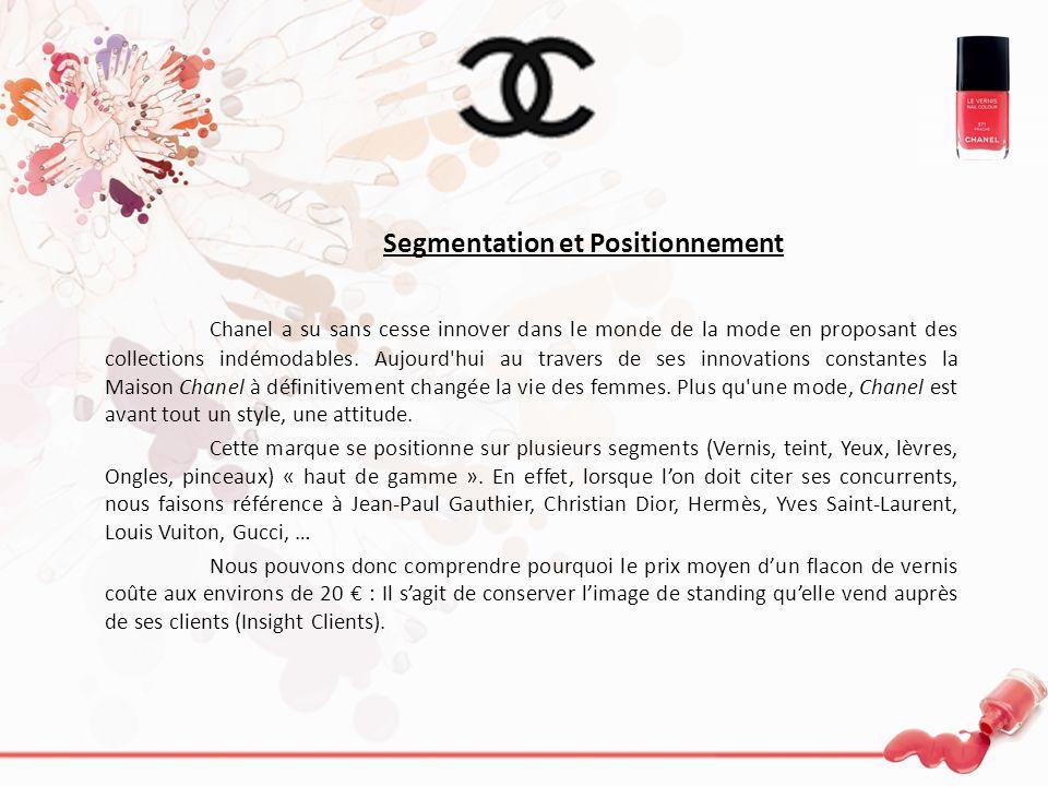 Segmentation et Positionnement Chanel a su sans cesse innover dans le monde de la mode en proposant des collections indémodables. Aujourd'hui au trave