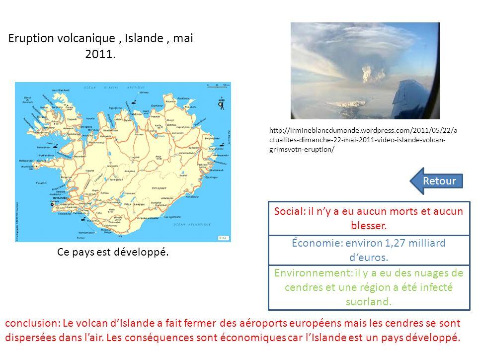 Tremblement de Terre / tsunamis JAPON 11 mars 2011 Ce pays est développé Conclusion: Dans ce séisme il y a eu 21 000 morts et disparus, lenvironnement