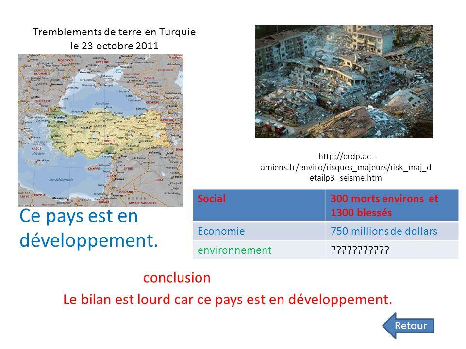 Inondations Australie 2010/2011 social22 morts économique7,4 milliards d'euros environnement Info.france2.fr Ce pays est développé bilan Le bilan nest
