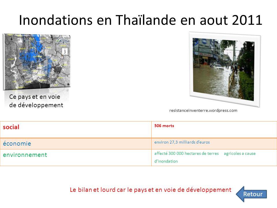 Inondation Etas unis avril-mai 2011 Bilan : Le bilan est lourd économiquement. Il y a eu « que » 383 victimes et beaucoup de terres agricoles détruite