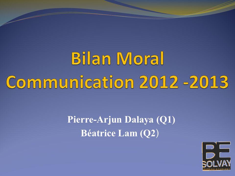 Pierre-Arjun Dalaya (Q1) Béatrice Lam (Q2 )
