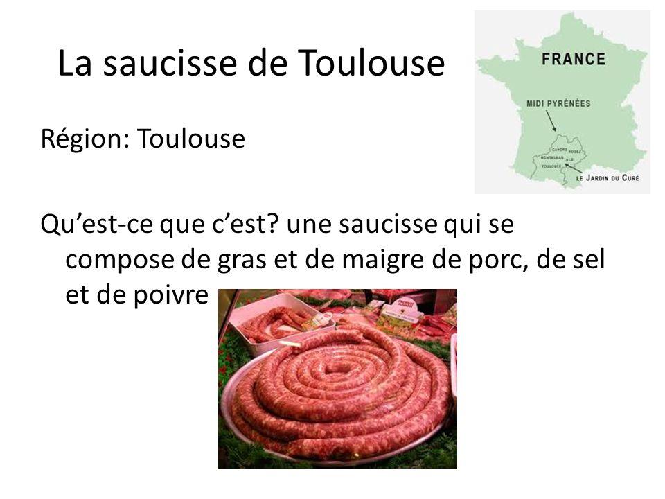 La saucisse de Toulouse Région: Toulouse Quest-ce que cest.