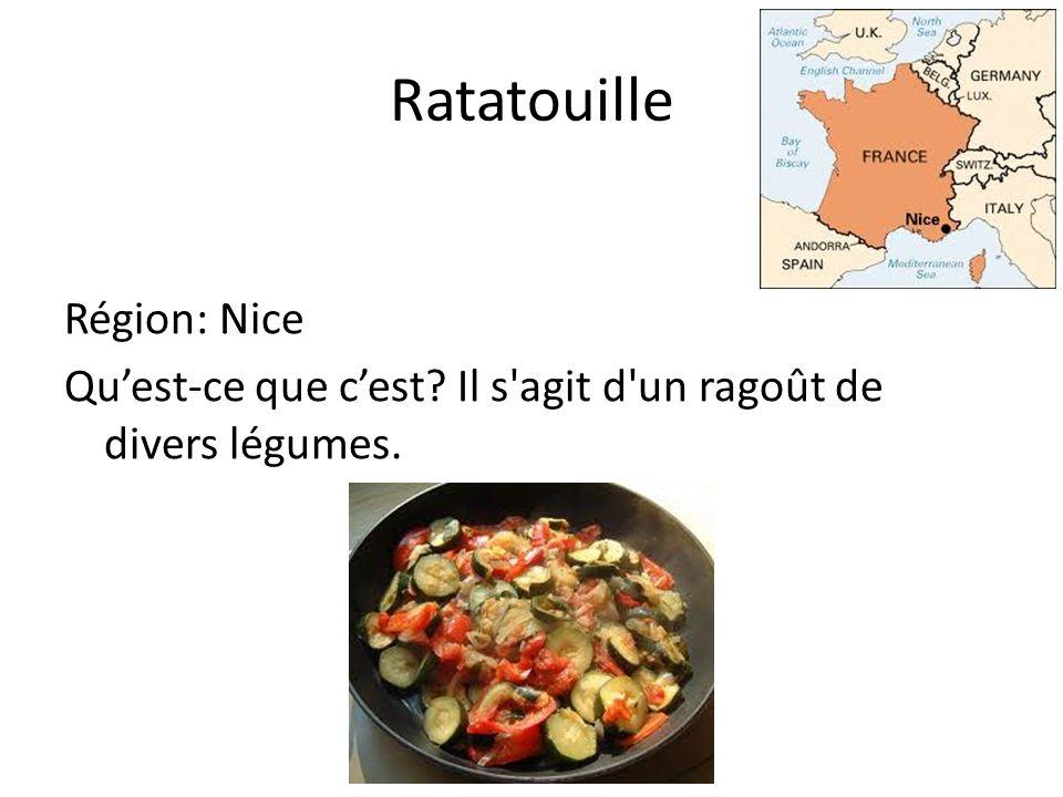 Ratatouille Région: Nice Quest-ce que cest Il s agit d un ragoût de divers légumes.