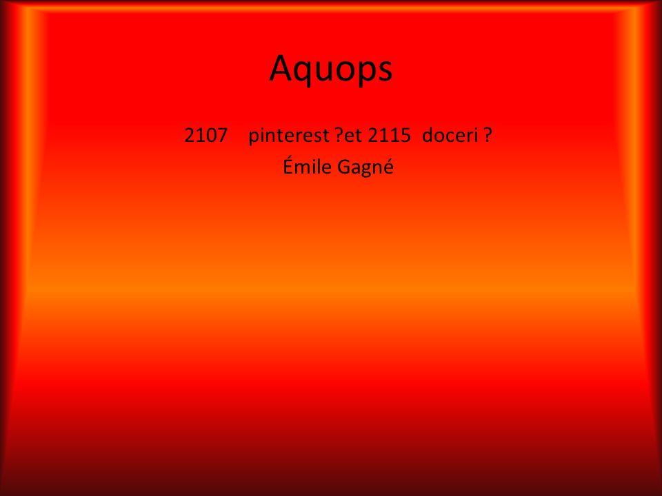 Aquops 2107 pinterest ?et 2115 doceri ? Émile Gagné