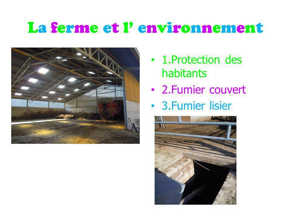La ferme et l environnementLa ferme et l environnement 1.Protection des habitants 2.Fumier couvert 3.Fumier lisier