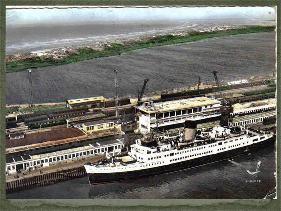 L'embarcadère Ferry de Dunkerque Est, dans les années 1950