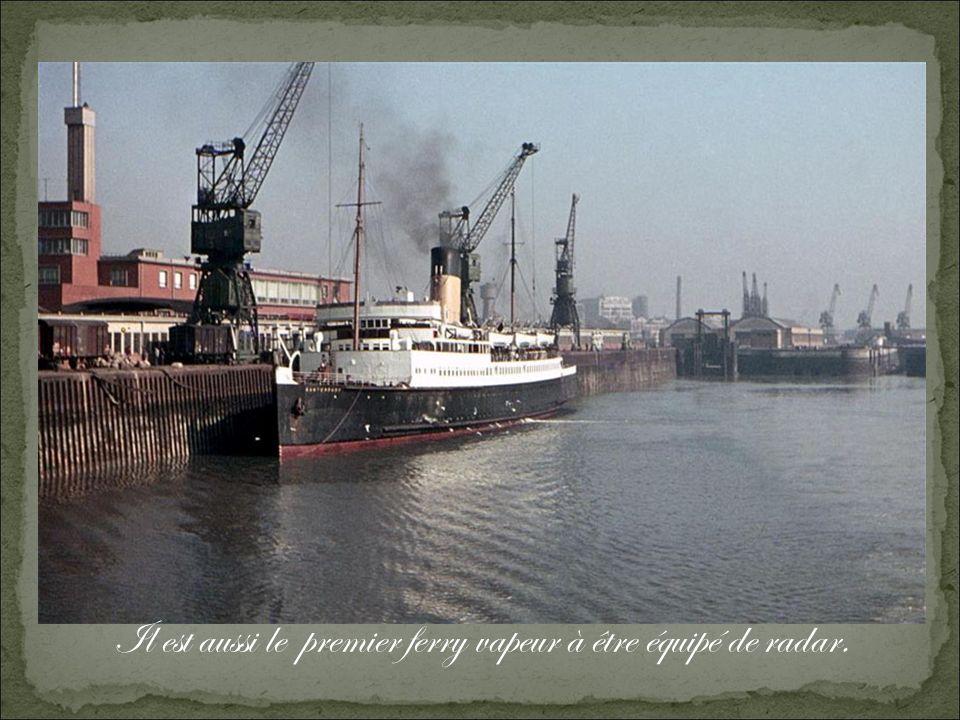« Le Canterbury », le 28 octobre 1945 est le premier navire, après guerre sur Calais à Folkestone