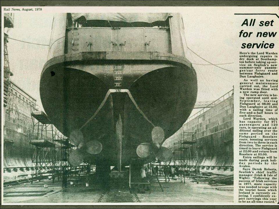 Le 7 juillet 1956, en route vers Boulogne, dans un épais brouillard au large du Cap Gris Nez, le « Lord Warden » entre en collision avec « le navire F