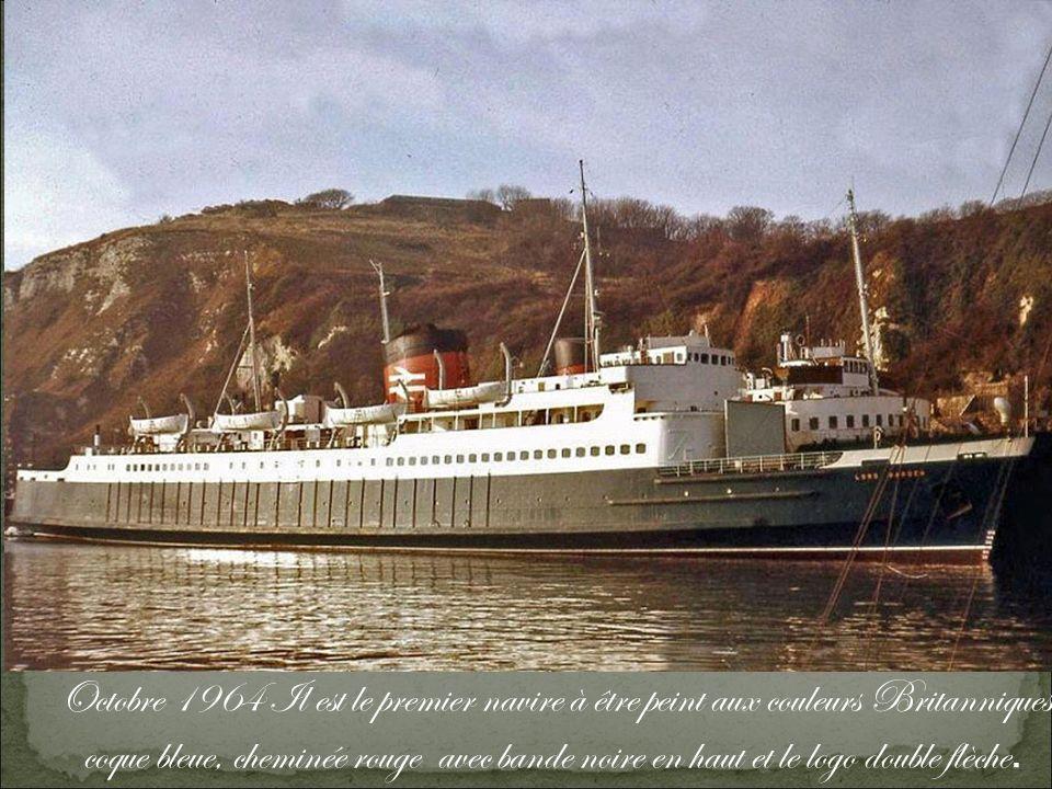 Le 2 août 1970, à Calais, il heurte le quai.