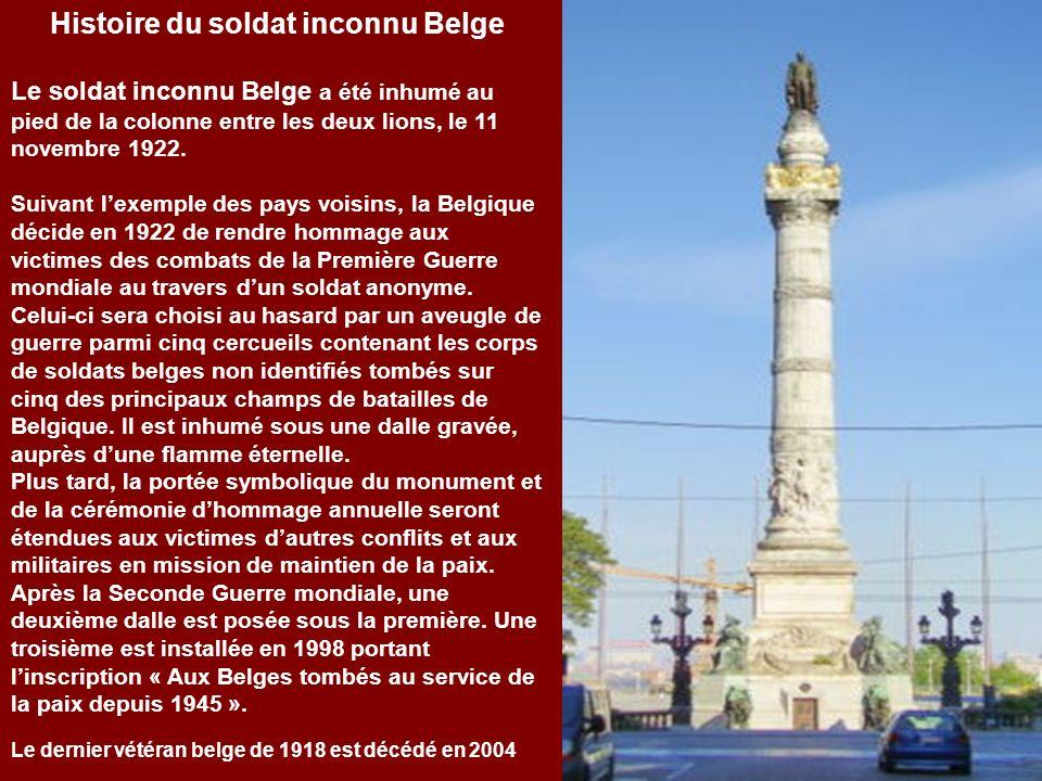 Monument du soldat inconnu Belge colonne du Congrès Bruxelles