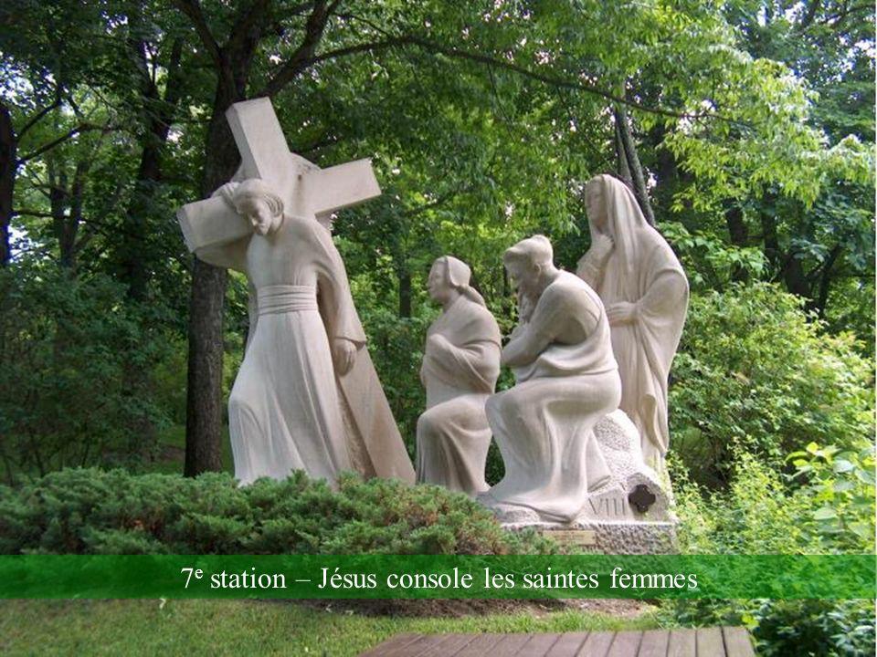 6 e station – Jésus tombe sous le poids de la Croix