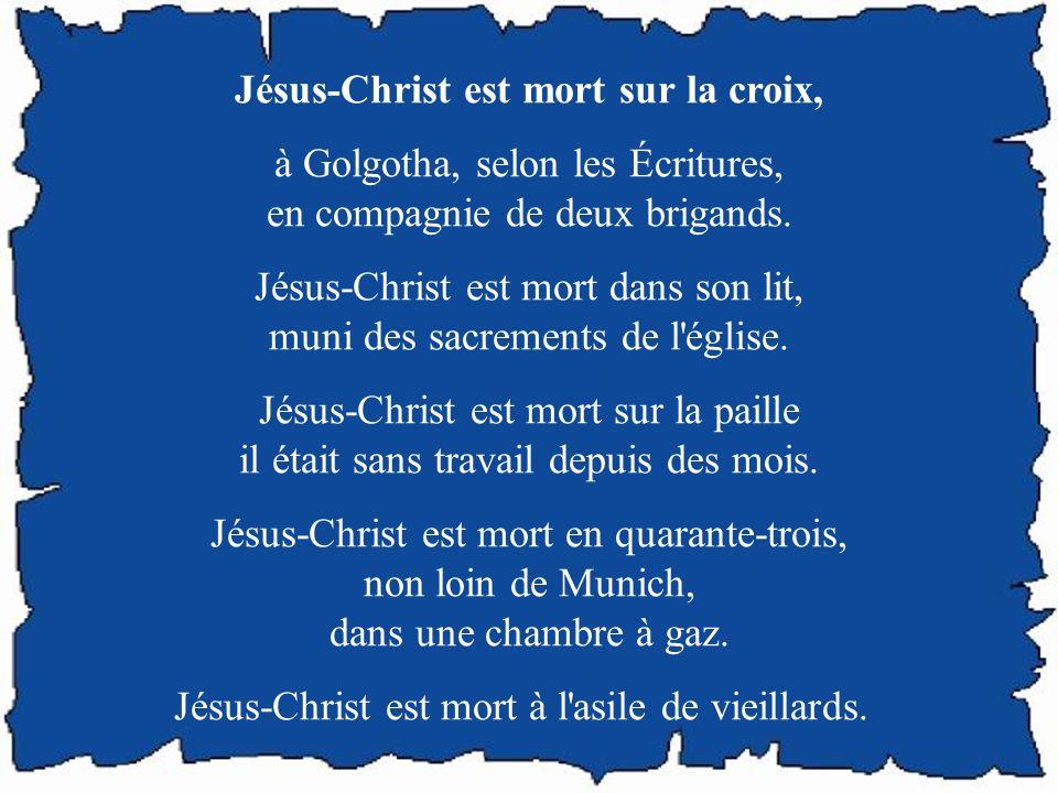 Écrit au bas d'un crucifix Vous qui pleurez, venez à ce Dieu, car il pleure. Vous qui souffrez, venez à lui, car il guérit. Vous qui tremblez, venez à
