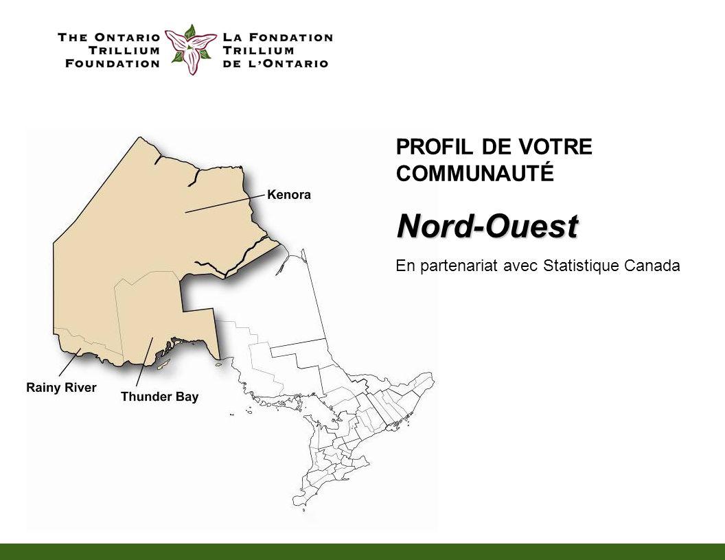 PROFIL DE VOTRE COMMUNAUTÉNord-Ouest En partenariat avec Statistique Canada