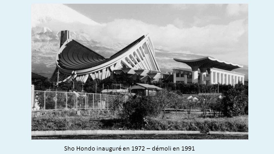 Sho Hondo inauguré en 1972 – démoli en 1991