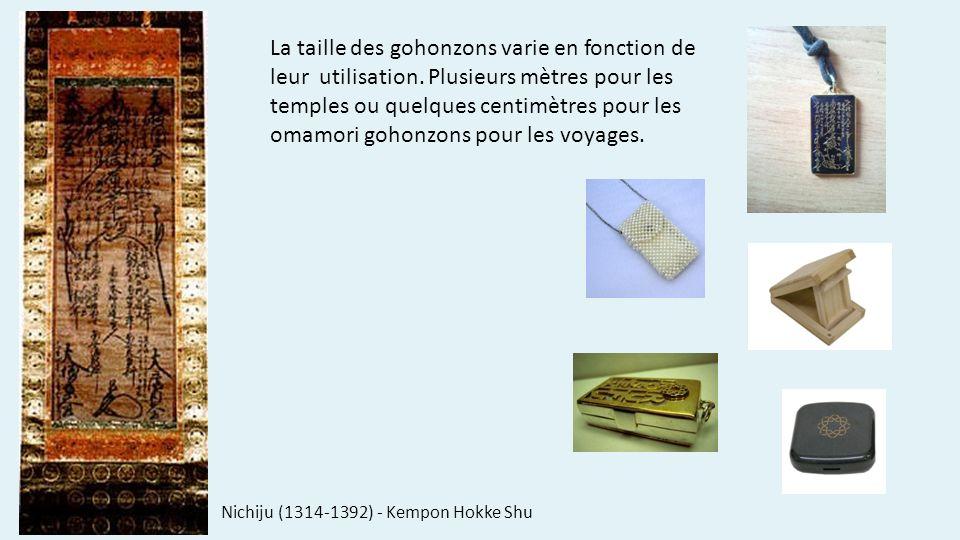 La taille des gohonzons varie en fonction de leur utilisation.