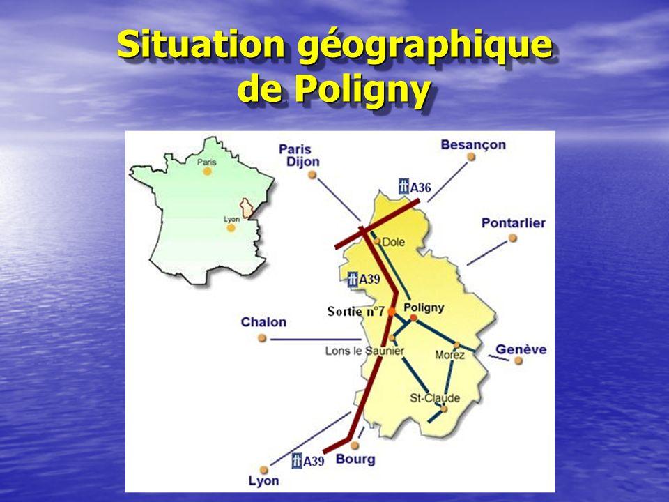 Situation géographique de Poligny Situation géographique de Poligny