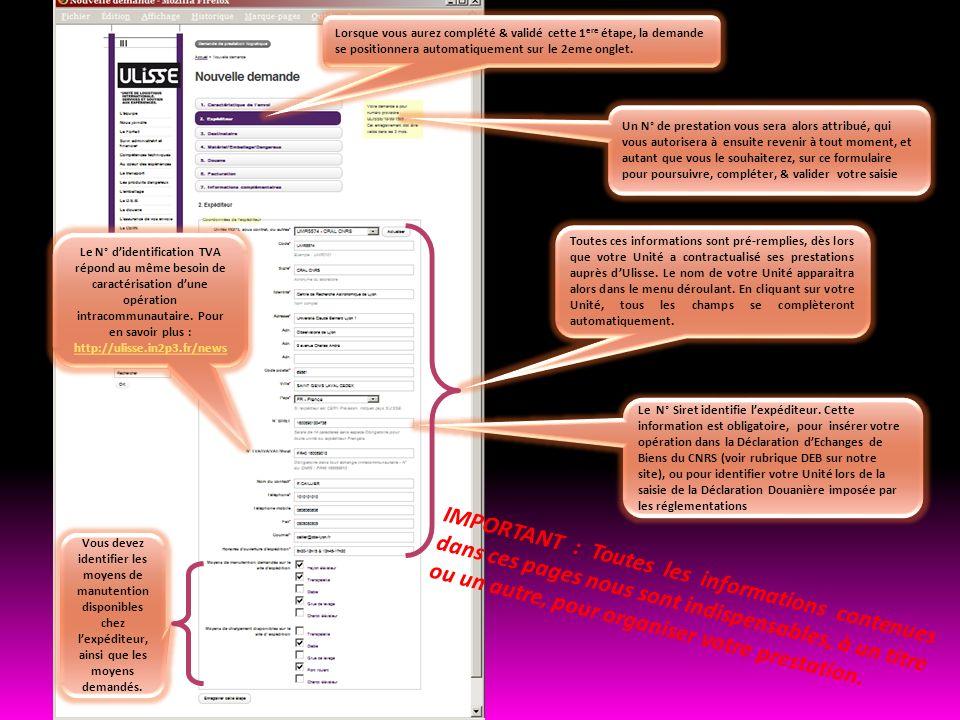 IMPORTANT : Toutes les informations contenues dans ces pages nous sont indispensables, à un titre ou un autre, pour organiser votre prestation. Le N°