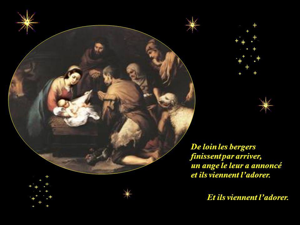 Il y a une étoile dans le ciel. Cette nuit dans une crèche. Elle brille car cest Noël, Dieu Lui-même est né cette nuit dans une crèche.