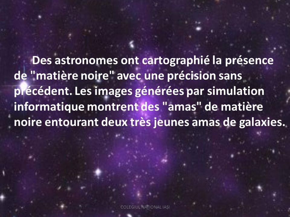 Des astronomes ont cartographié la présence de