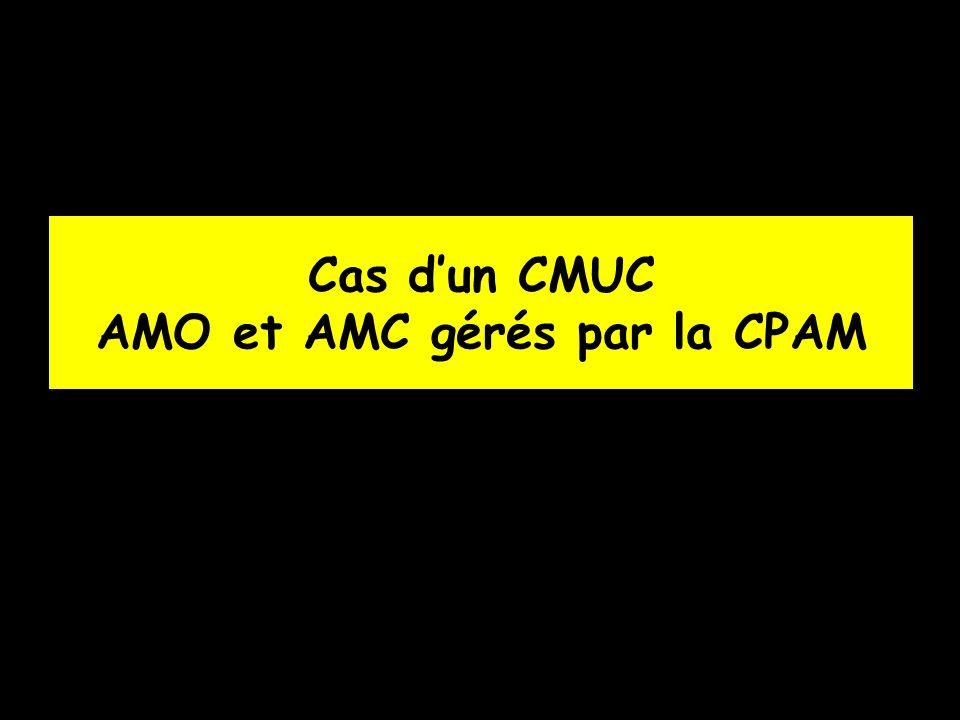 Cas dun CMUC AMO et AMC gérés par la CPAM