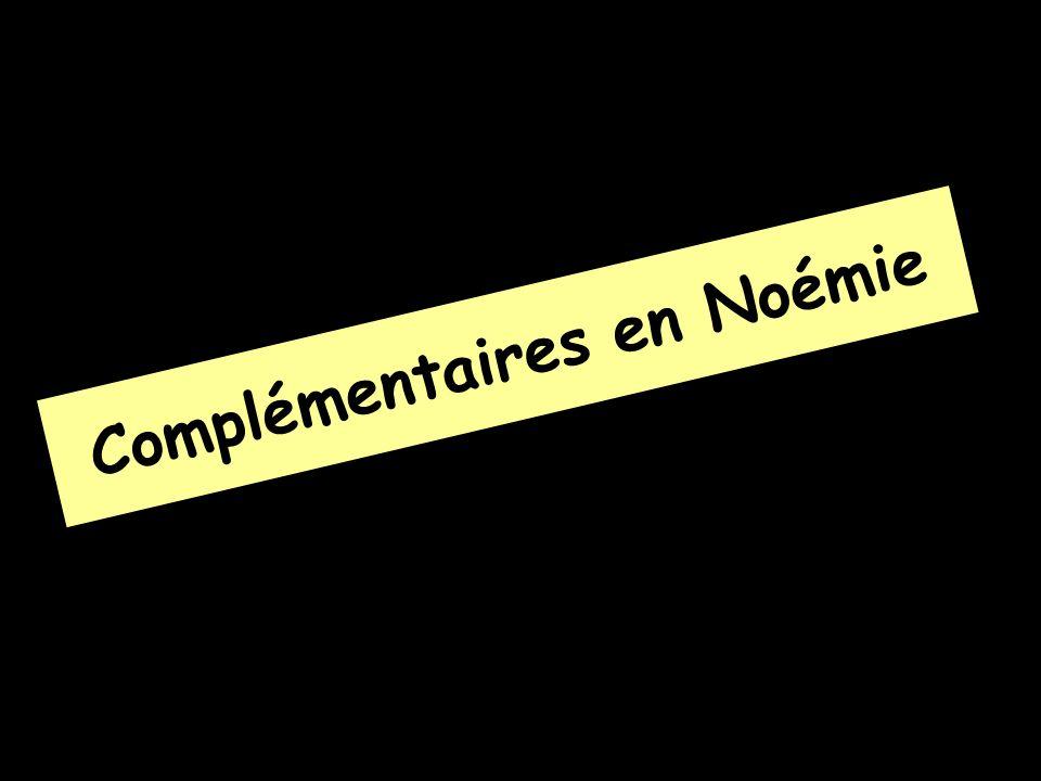 Complémentaires en Noémie