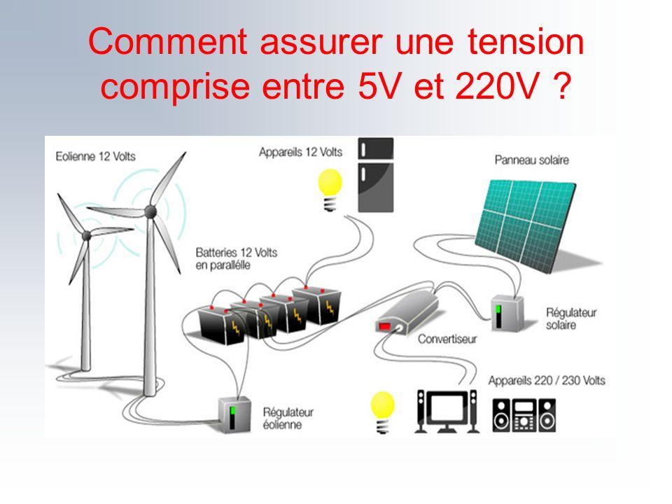 Comment assurer une tension comprise entre 5V et 220V ?