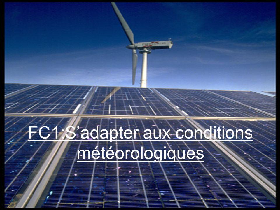 FC1:Sadapter aux conditions météorologiques