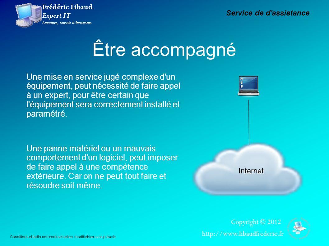 Frédéric Libaud Expert IT Assistance, conseils & formations Copyright © 2012 http://www.libaudfrederic.fr Être accompagné Internet Une mise en service