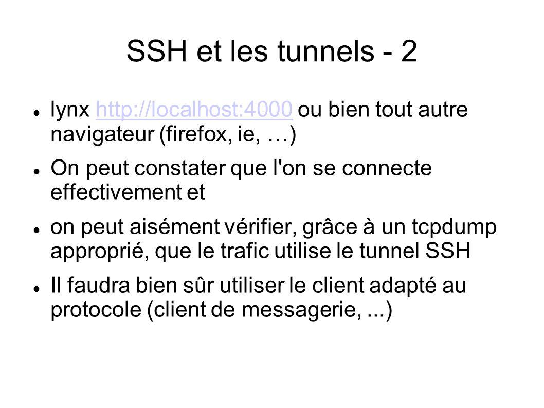 SSH et les tunnels - 2 lynx http://localhost:4000 ou bien tout autre navigateur (firefox, ie, …)http://localhost:4000 On peut constater que l'on se co