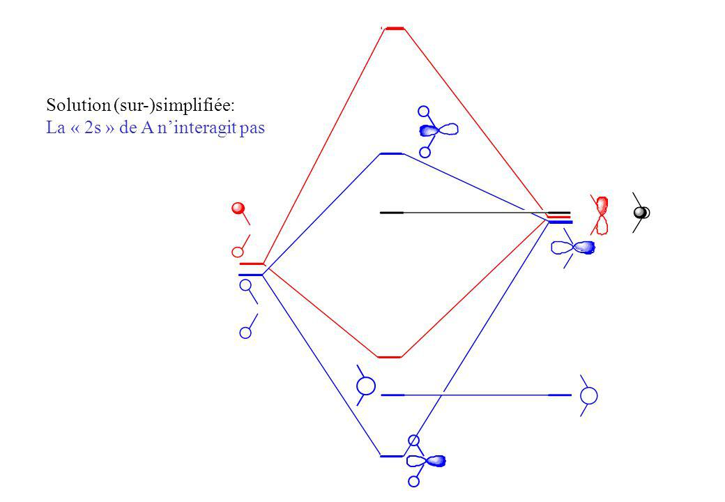 1a 2 2a 1 2e 2p x, y z 2(H 3 ), 3 (H 3 ) 2s 1(H 3 ) Molécule BH 3 Une orbitale basse vide: Caractère acide de Lewis