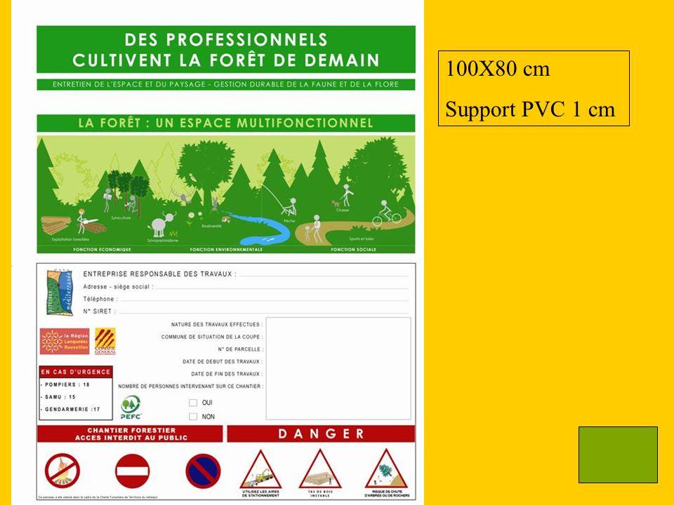 100X80 cm Support PVC 1 cm