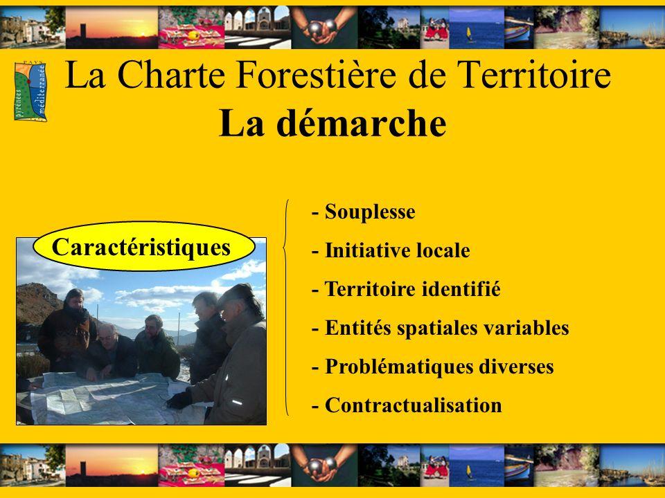 La Charte Forestière de Territoire La démarche - Problématiques diverses - Entités spatiales variables - Contractualisation - Souplesse - Territoire i