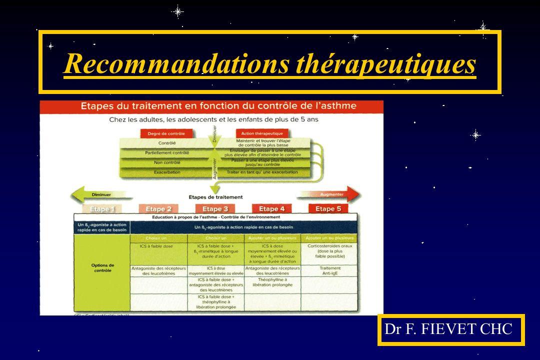 Recommandations thérapeutiques Dr F. FIEVET CHC