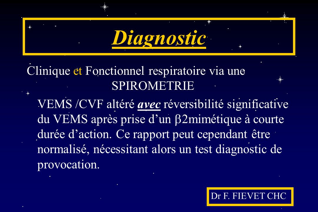 Evaluation pratique (2) Dr F. FIEVET CHC A.C.T.
