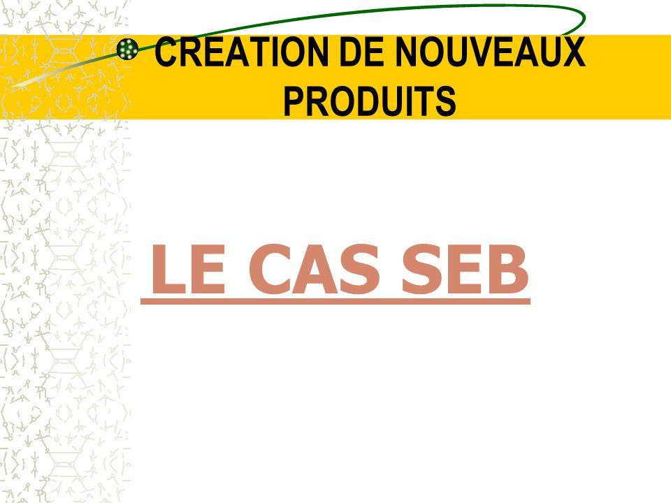 CREATION DE NOUVEAUX PRODUITS LE CAS SEB