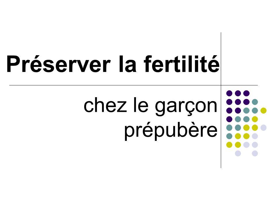 Préserver la fertilité chez le garçon prépubère